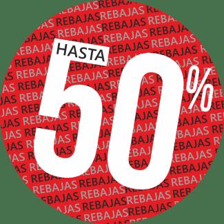 cartel redondo rojo 50