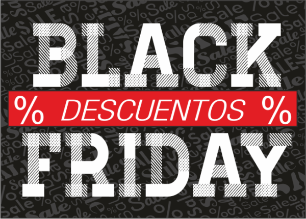 Letrero Black Friday estilo vintage