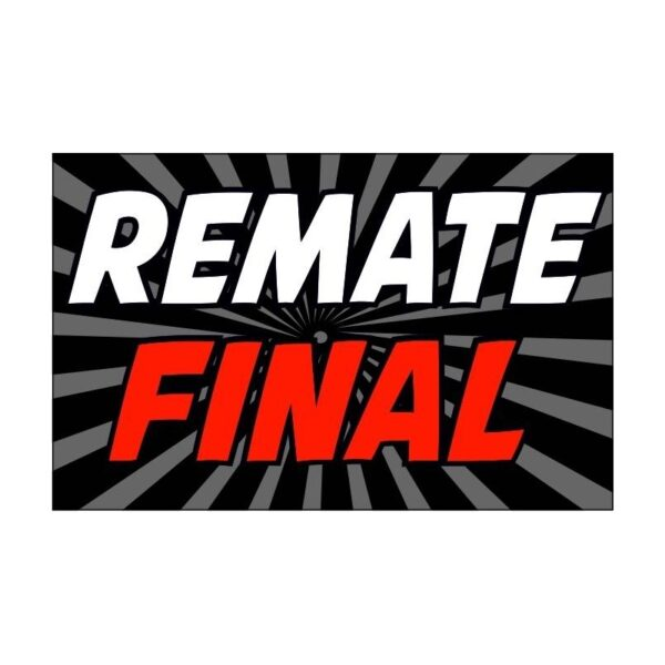 Cartel remate final rebajas