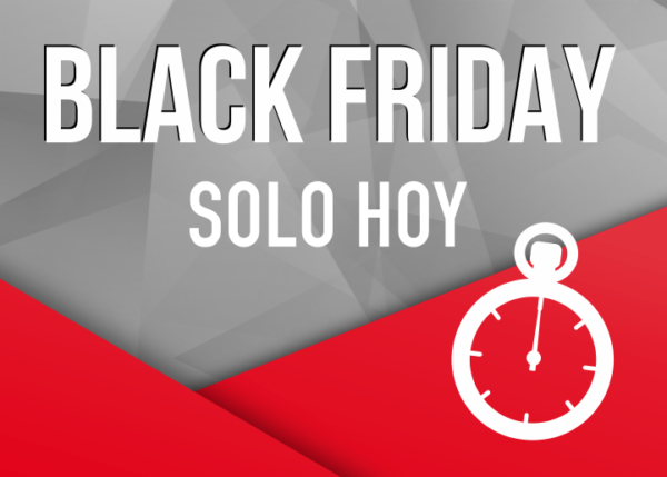 cartel viernes negro rebajas black friday