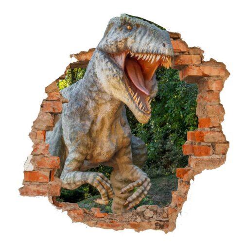 vinilo dinosaurio pared rota