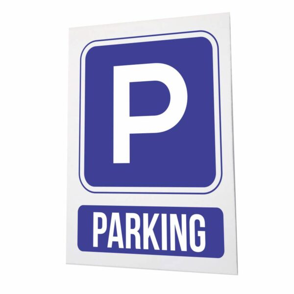 Cartel para parking azul