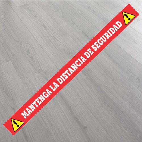 pegatina distancia seguridad suelo
