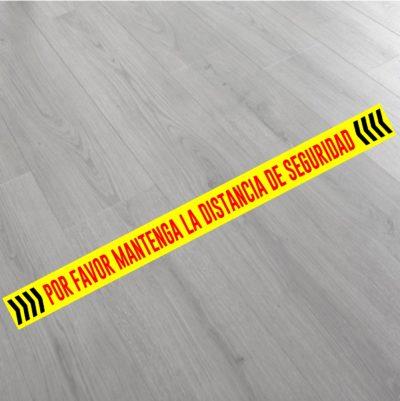 Vinilo distancia seguridad para suelo